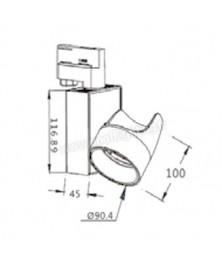 Profilé Droit MINI LUCI 17,3 x 7mm