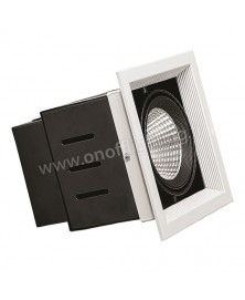 Spot LED 22W Ø95mm sur Rail 3 phases